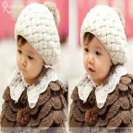 Nón len hình bánh tiêu cho bé chỉ 79.000 vnđ giữ ấm và tô điểm cho trang phục của bé thêm xinh xắn và đáng yêu