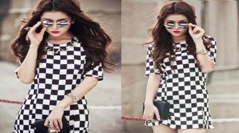 Đầm caro bàn cờ mang phong cách hiện đại của Châu Âu với giá chỉ 128.000 vnđ.Thời trang sang trọng với chất liệu Poly mềm mại.Giá cực rẻ chỉ có tại Retunggiay.Vn !