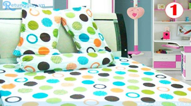 Bộ drap giường chất liệu vải kate chỉ 133.000 vnđ Giúp không gian phòng ngủ của bạn thêm sinh động, đẹp mắt. Giá cực rẻ chỉ có tại Retunggiay.vn!
