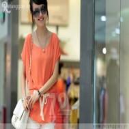 Áo Chiffon cánh dơi thắt eo chỉ 95.000 vnđ tôn lên vẻ mềm mại nữ tính cùng với những đường cong quyến rũ - 1 - Thời Trang và Phụ Kiện - Thời Trang và Phụ Kiện