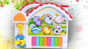 Đàn chơi nhạc và tiếng động vật cho trẻ - Cho bé yêu sống trong thế giới âm thanh vui nhộn - Nhỏ gọn để bé mang đi khắp mọi nơi. Sản phẩm trị giá 125.000 còn 75.000. Mức ưu đãi 40% chỉ có