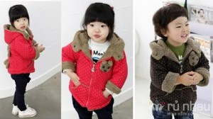 Áo khoác lót lông - họa tiết gấu nhỏ xinh cho bé. Áo dễ thương cho các bé mê tít - Áo ấm áp cho ba mẹ yên tâm. Sản phẩm trị giá 270.000 còn 180.000. Mức ưu đãi 33% chỉ có tại