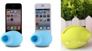 Loa du lịch hình quả trứng dành cho Iphone: Giúp bạn thưởng thức âm thanh to, rõ dù ở bất cứ nơi đâu với chức năng phóng thanh không cần thiết bị phụ trợ. Sản phẩm trị giá 215.000đ chỉ còn 130.000đ. Chỉ có tại Rủ nhau