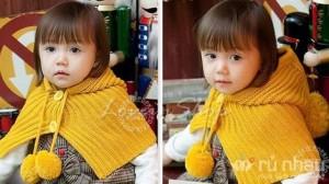 Áo choàng len có mũ ấm áp cho bé gái thêm xinh xắn - Dành cho các bé từ 1-5 tuổi - Các mẹ hài lòng, các bé thích mê. Sản phẩm trị giá 198.000 ưu đãi 40% còn 119.000