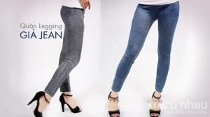 Legging giả jean dáng dài - Phong cách hơn, chất hơn và tiện dụng hơn trong tiết trời se lạnh. Sản phẩm trị giá 140.000 ưu đãi 50% còn 70.000 chỉ có tại
