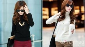 Áo len cao cổ nữ - Xu hướng thời trang luôn hot vào những ngày lạnh - Cho bạn vẻ đẹp vừa kín đáo, vừa dịu dàng. Sản phẩm trị giá 175.000 ưu đãi 50% chỉ còn 88.000. Duy nhất có tại