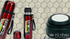 Bình giữ nhiệt nóng lạnh Inox cao cấp dung tích 500ml - Nhỏ nhắn, tiện dụng, giữ nhiệt suốt 24h theo bạn khắp mọi nơi. Sản phẩm trị giá 110.000 ưu đãi 47% còn 58.000 chỉ có tại