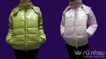 Áo phao nữ Made in Vietnam. Sắc màu, kiểu dáng trẻ trung cho mùa đông thêm ấm áp. Sản phẩm trị giá 500.000 ưu đãi 41% còn 295.000. Sản phẩm duy nhất có trên