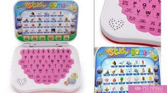 Laptop mini học tiếng Anh cho bé: Kiểu dáng nhỏ gọn, xinh xắn, giúp bé vừa học vừa chơi thật hiệu quả. Sản phẩm trị giá 165.000đ ưu đãi chỉ còn 85.000đ. Đừng bỏ lỡ cơ hội tại Rủ nhau - 1 - Sản Phẩm Giải Trí - Sản Phẩm Giải Trí