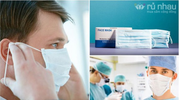 Combo 2 hộp khẩu trang y tế Face Mask: Ngăn ngừa bụi, vi khuẩn và các bệnh nguy hiểm lây qua đường hô hấp, giúp bảo vệ sức khỏe cho cả gia đình bạn. Combo trị giá 90.000đ giảm còn 52.000đ tại Rủ nhau - Đồ Dùng Cá Nhân