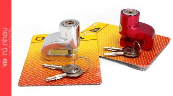 Khóa đĩa chống trộm xe máy: Chống lại các thủ thuật bẻ khóa, bảo đảm an toàn cho chiếc xe máy của bạn. Sản phẩm có giá 150.000đ ưu đãi còn 75.000đ tại Rủ nhau - Gia Dụng