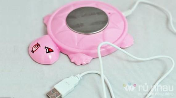 Đĩa hâm nóng bằng USB hình rùa ngộ nghĩnh - Sẵn sàng hâm nóng café hay trà cho bạn - Món quà ý nghĩa vào những ngày đông giá. Sản phẩm trị giá 110.000 còn 65.000. Ưu đãi 40% hiện có tại