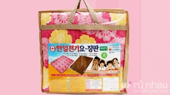 Đệm điện nhập khẩu trực tiếp từ Hàn Quốc chất liệu vải cao cấp - Thêm sự lựa chọn an toàn và hiệu quả để sưởi ấm và giữ gìn sức khỏe cho cả gia đình. Sản phẩm trị giá 1.100.000 nay chỉ còn 880.000. Cơ hội duy nhất có tại