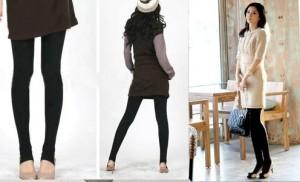 Bộ đôi quần legging hai lớp co giãn bốn chiều, lót len ấm áp - Vị cứu tinh cho những bạn gái thích mặc váy ngay cả trong ngày đại hàn. Sản phẩm trị giá 225.000 ưu đãi 40% còn 135.000
