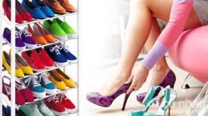 Giá để giày dép 10 tầng tiện lợi, thông minh - Những đôi giày yêu quý của bạn không còn bị chồng đống và mất form nữa - Chọn thật nhanh đôi giày phù hợp với trang phục. Sản phẩm trị giá 270.000 ưu đãi 50% còn 135.000. Chỉ có tại