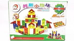 Bộ xếp hình lâu đài bằng gỗ cho bé yêu từ 3 tuổi - Đồ chơi thông minh và an toàn cho bé phát triển tư duy. Sản phẩm trị giá 160.000 chỉ còn 82.000. Mức ưu đãi 48% duy nhất có tại