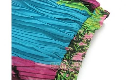 Chân váy Midi hoa xếp li