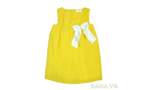 Đầm Baby Doll phối nơ cho bé