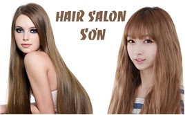 Saha - Uon/duoi/nhuom + cat + goi + say tai Hair Salon Son
