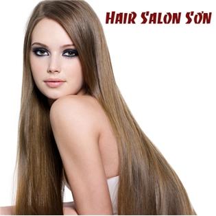 Saha - Uon/duoi/nhuom + cat + goi + say tai Hair Salon Son