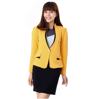 Saha - Ao vest cong so Yellow