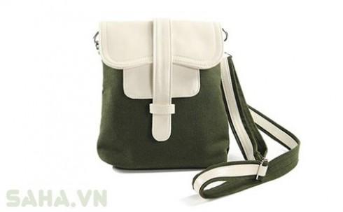 Túi đeo chéo vải bố + ví cầm tay