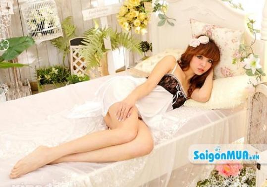 Đầm Ngủ Sexy Cánh Sen - cho vẻ đẹp đầy quyến rũ, chất liệu thun phi bóng mềm mại thoáng mát. Giá ...