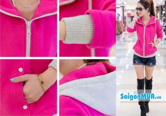 Áo khoác nữ Pink Color Fashion mang đến cho bạn gái phong cách thời trang trẻ trung, sành điệu và cá ...