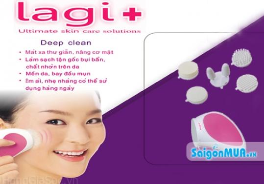 Thư giãn và sở hữu làn da săn chắc, mịn màng với máy massage rửa mặt nhãn hiệu Lagi+. Giá 275.000vnđ ...