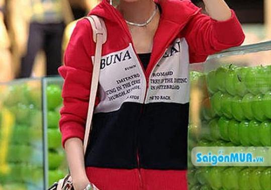 Áo khoác BUNA phối màu phong cách kiểu dáng phối màu trẻ trung mang đến phong cách thời trang, ấn ...