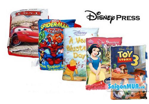 Gối sách vải Disney vừa dùng làm sách vải cho bé học và chơi, vừa làm gối cho bé gối đầu hoặc ôm. ...