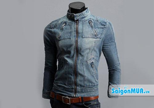 Áo khoác Jeans nam tính chất liệu jean bền đẹp. Thiết kế hợp thời trang, mang lại cho bạn nam vẻ đẹp ...