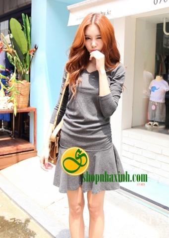 Shop Nhà Xinh - Dam xoe dao pho mua thu (D33123H)