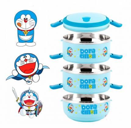 Shop Nhà Xinh - Hop com giu nhiet 3 tang Doreamon NX204