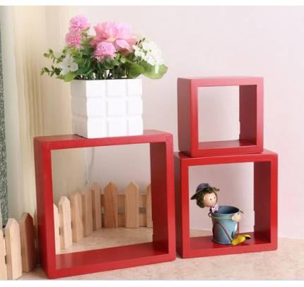 Shop Nhà Xinh - Ke vuong treo tuong set 3 cai NX004
