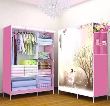 Shop Nhà Xinh - Tu 2 buong 6 ngan 3D cao cap NX1668