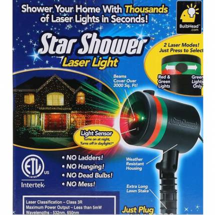 Shop Nhà Xinh - Den chieu trang tri Noen Tet LASER MINI STAR SHOWER