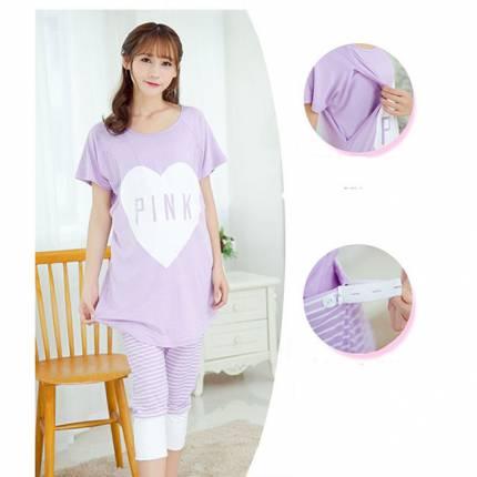 Shop Nhà Xinh - Bo do bau ket hop cho con bu Pink NX542