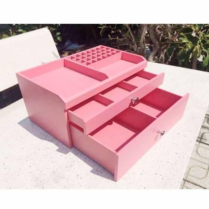 Shop Nhà Xinh - Ke trang suc my pham go 3 tang cao cap NX6902