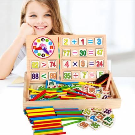 Bảng chữ số học Toán gỗ cho bé NX6903