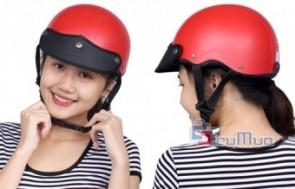 Nón bảo hiểm kiểu dáng nón sơn giá chỉ có 98.000đ, kiểu dáng trẻ trung, thời trang, thiết kế ôm trọn vòng đầu êm ái.