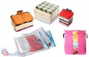Túi vải đựng chăn mền loại lớn giá chỉ có 66.000đ, thiết kế khóa hình chữ U dễ dàng lấy vật dụng bên trong mà không cần mở toàn bộ.
