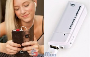 Combo 1 sạc pin dự phòng cho điện thoại và 2 pin AA giá chỉ có 93.000đ, thích hợp sử dụng khi đi du lịch hoặc đi công tác xa.
