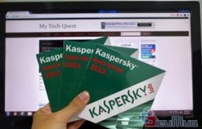 Phần mềm diệt virus kaspersky anti virus 2012 bản quyền giá chỉ có 108.000đ, sử dụng công nghệ điện toán đám mây, không ảnh hưởng và làm chậm tốc độ máy tính.