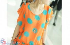 Áo chấm bi cánh tiên giá chỉ có 115.000đ, xu hướng thời trang cực hot hè 2012, mang đến nét duyên dáng cho bạn nữ.