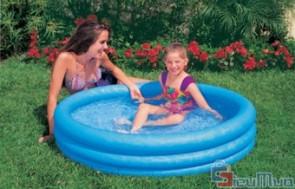 Bể bơi mini tại nhà cho bé giá chỉ có 129.000đ, thành bể gồm 03 tầng bơm hơi, có van xả khí thuận tiện khi sử dụng.
