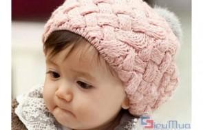 Nón len hình bánh tiêu cho bé giá chỉ có 89.000đ, nón co giãn tốt, bo sát đầu nhưng rất êm, có tác dụng giữ ấm và giúp trang phục của bé thêm xinh xắn. - Thời Trang Trẻ Em