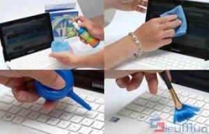 Combo bộ 4 sản phẩm gồm: túi chống sốc Samsonite, bộ vệ sinh máy tính, bàn di chuột, miếng lót chống bụi giá chỉ có 78.000đ. Bảo vệ chiếc laptop của bạn một cách thật dễ dàng.