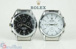 Đồng hồ nam dây thép Rolex chống vô nước giá chỉ có 189.000đ, chất liệu thép không gỉ. Thiết kế theo phong cách khỏe khoắn, trẻ trung cho nam giới.