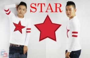 Áo thun tay dài Star thời trang giá chỉ có 99.000, chất liệu thun cotton mềm mịn thấm hút mồ hôi tốt. Kiểu dáng ôm body đem lại vẻ năng động cho cả bạn nam và nữ.